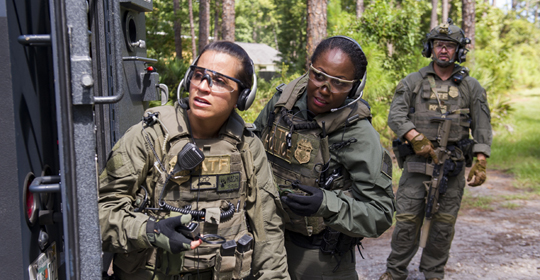 Special agents respond to an explosives incident