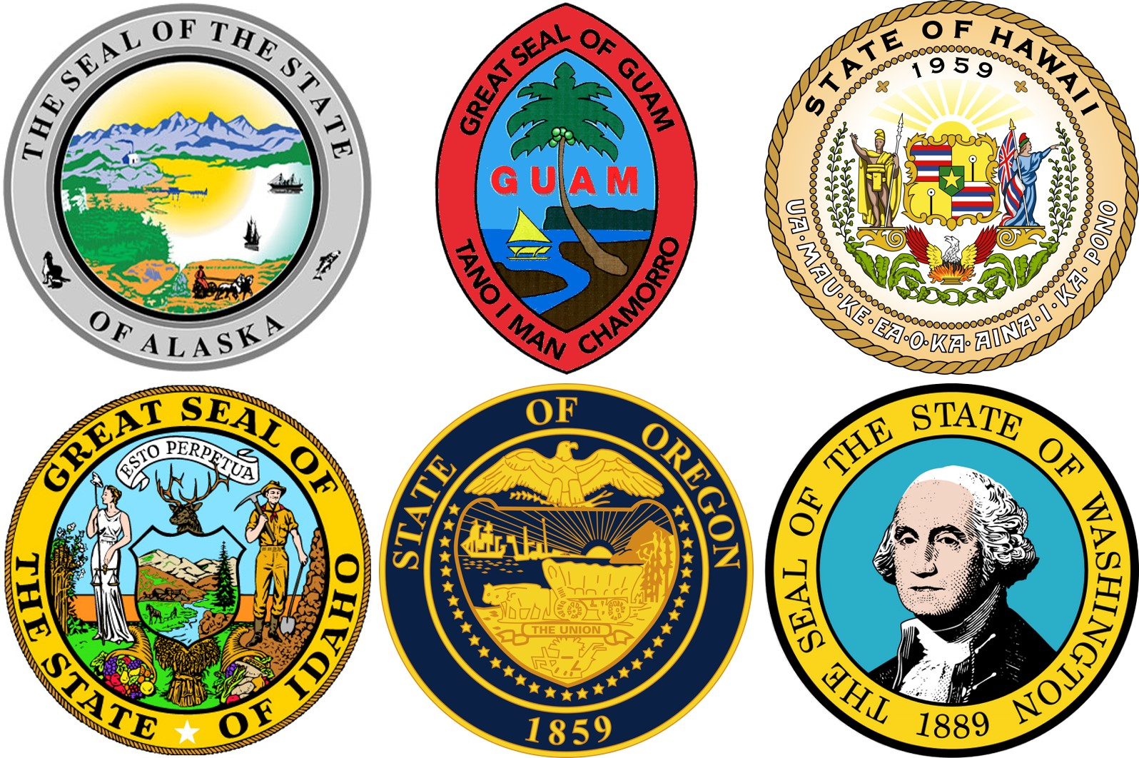 Seattle Field Division State Seals
