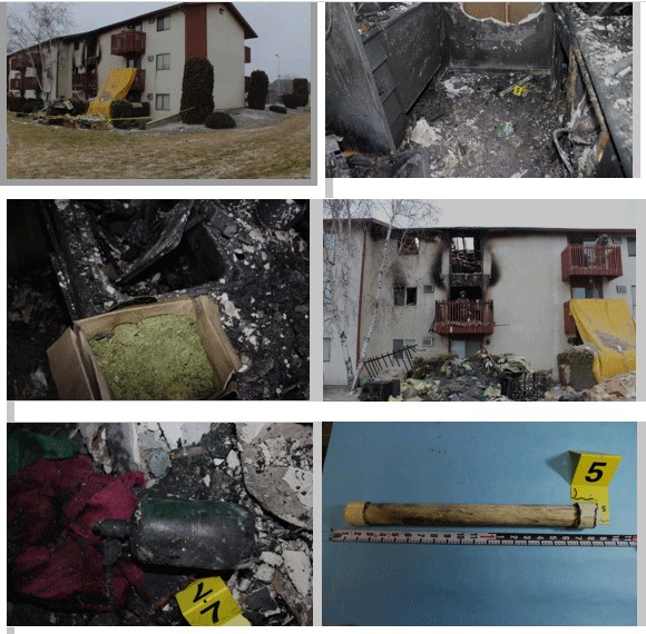 Pictures of an apartrment after a fire.