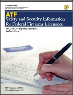 Picture of the Safety and Security Information for Federal Firearms Licensees Manuel